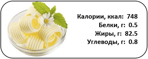 масло сливочное для набора веса